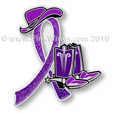 Cowgirl Purple Ribbon Pin