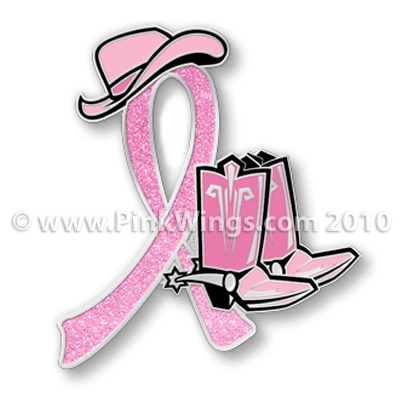 Cowboy Boots With Wings Tattoo Cowgirl boots pink ribbon pin