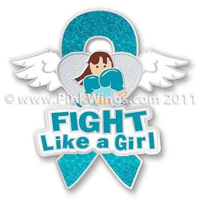 Ovarian Cancer Ribbon Fight Like A Girl