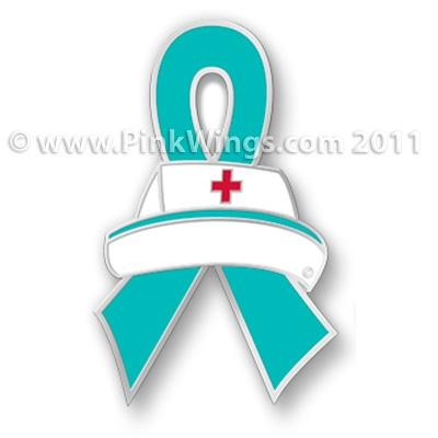 Nurse Teal Ribbon Pin